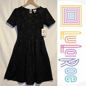 LuLaRoe Women's Size S Dress Amelia Style Embossed